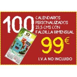 Calendarios personalizados  con faldilla bimensual